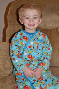 Elijah was so pleased with his new robe.