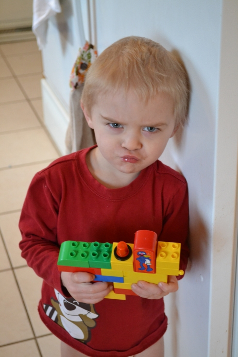 Eli has really enjoyed playing with legos lately.