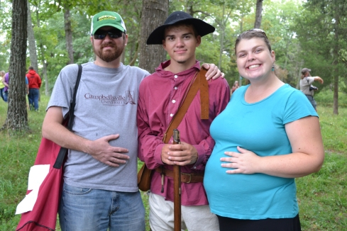Brandon, my brother Jacob, and I at a re-enactment.