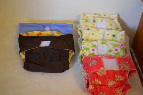 Pocket Diapers & Fitted Diapers I Made