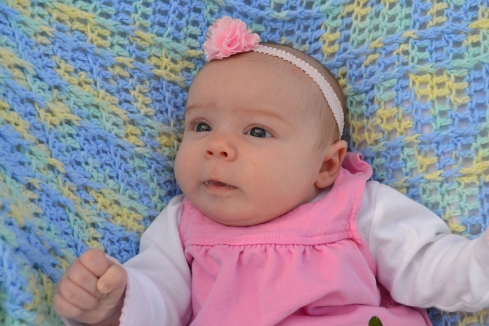 Eva Grace at 1 month