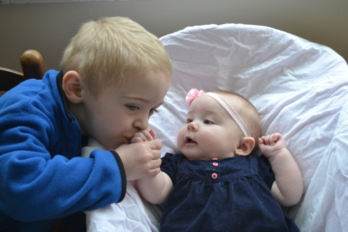 It is an absolute delight to watch Elijah and Evangeline play together.
